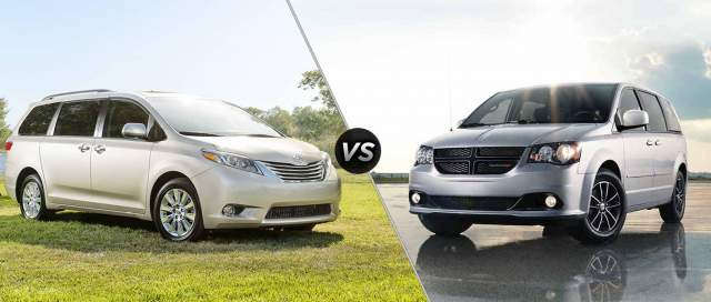 2018 Toyota Sienna vs 2018 Dodge Grand Caravan