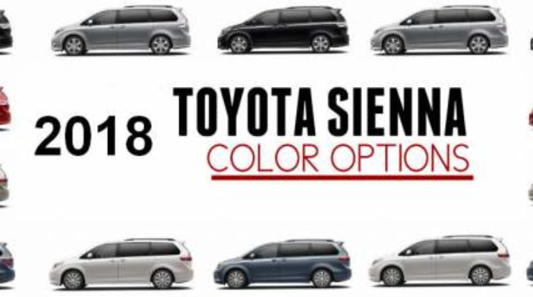 What Color Is Sienna >> 2018 Toyota Sienna Colors 2020 2021 Toyota Sienna