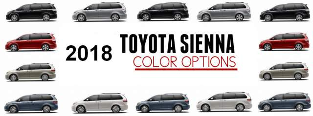 2018 Toyota Sienna colors